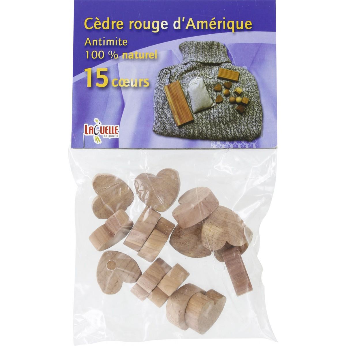 Antimites 100 % naturel Laguelle - 15 coeurs
