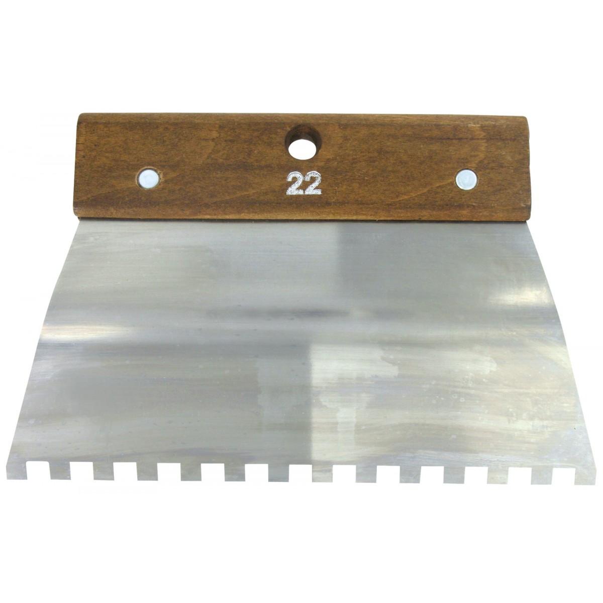 Peigne acier cambre Outibat - Denture carrée 8 x 8 mm - Dimensions 220 mm