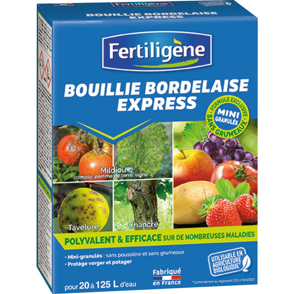 Bouillie bordelaise express granulés solubles  Fertiligène - Poids 500 g