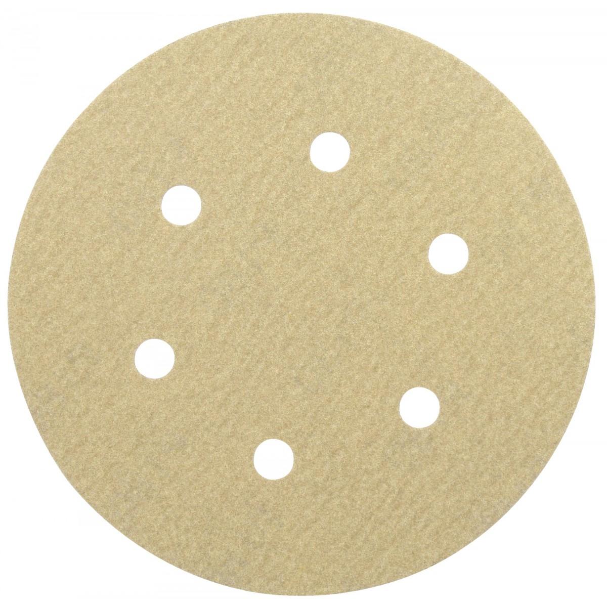 Disque auto-agrippant diamètre 150 mm 6 trous SCID - Grain 180 - Diamètre 150 mm - Vendu par 5