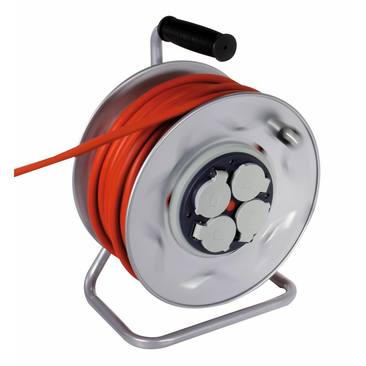 Enrouleur professionnel moyeu fixe Dhome - HO7 RN-F 3G 2,5 mm² - Longueur 25 m