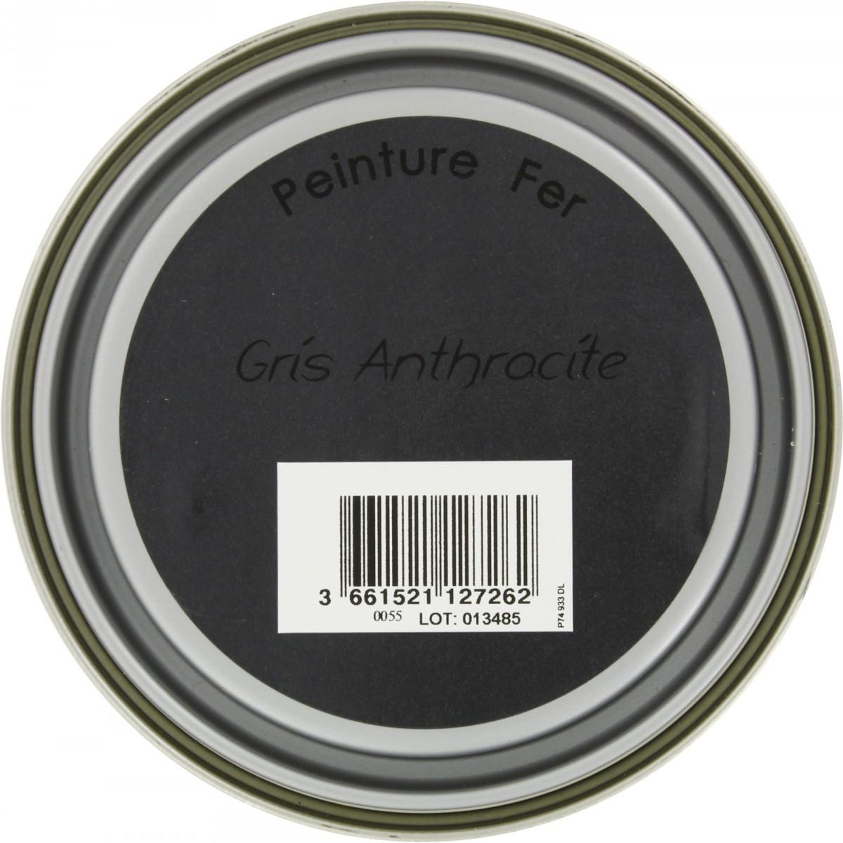 Peinture fer Addict - 0,5 l - Gris anthracite