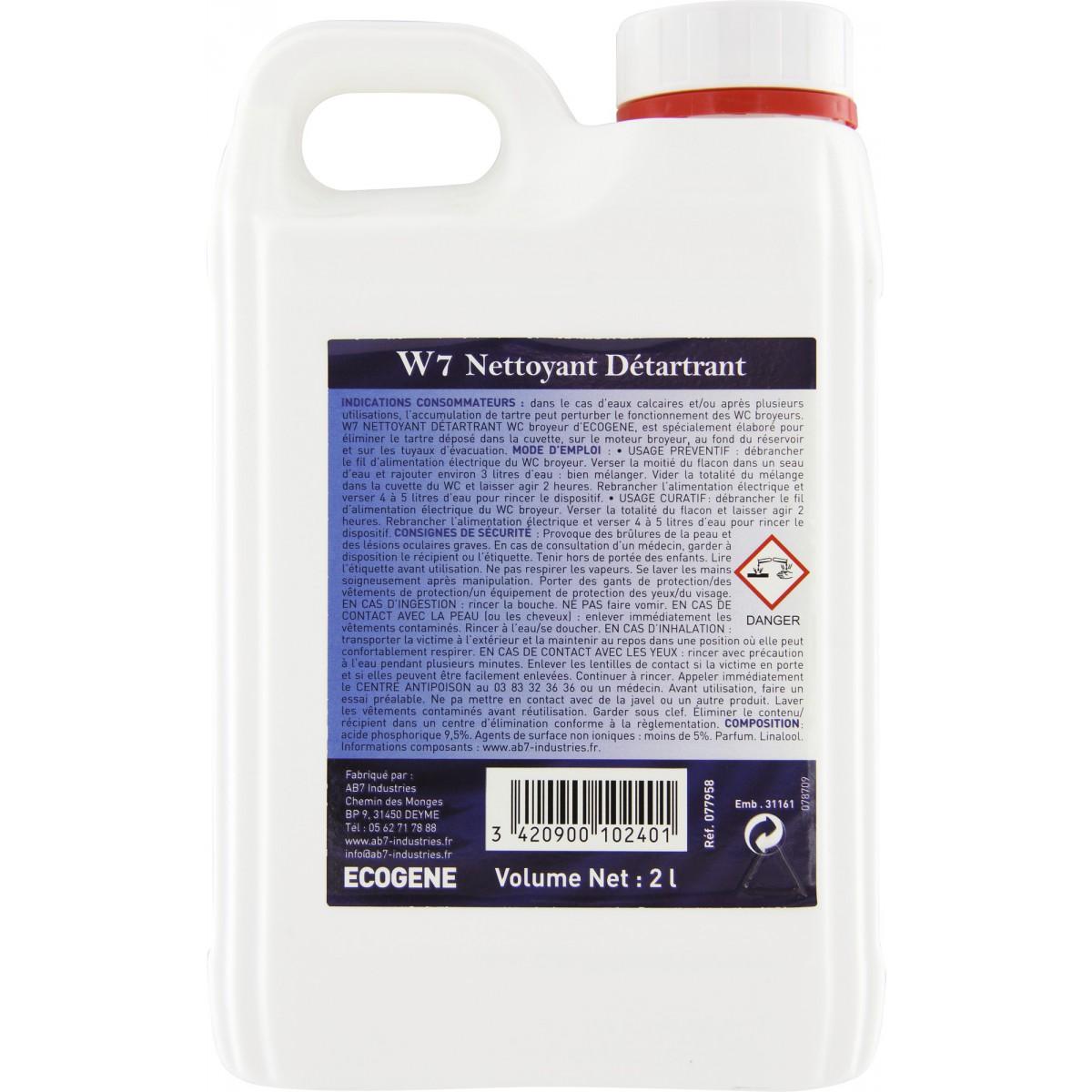 Entretien WC broyeurs Ecogène - Bidon 2 l