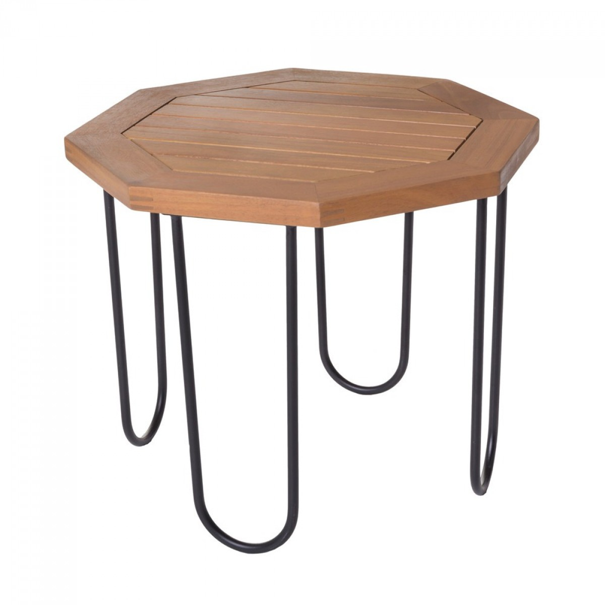 Table basse de jardin hexagonal acacia - Salma