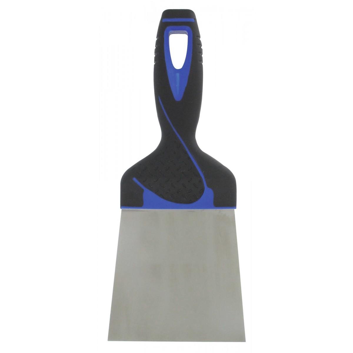 Couteau à enduire inox - Manche bi-matière Outibat - Dimensions 14 cm