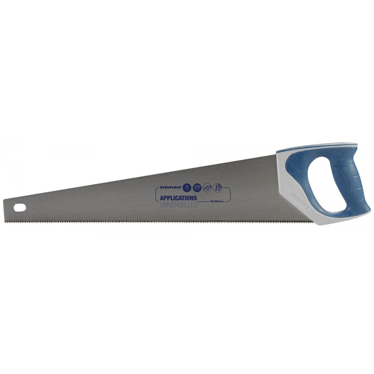 Scie égoïne universelle Outibat - Manche bi-matière - Longueur 550 mm