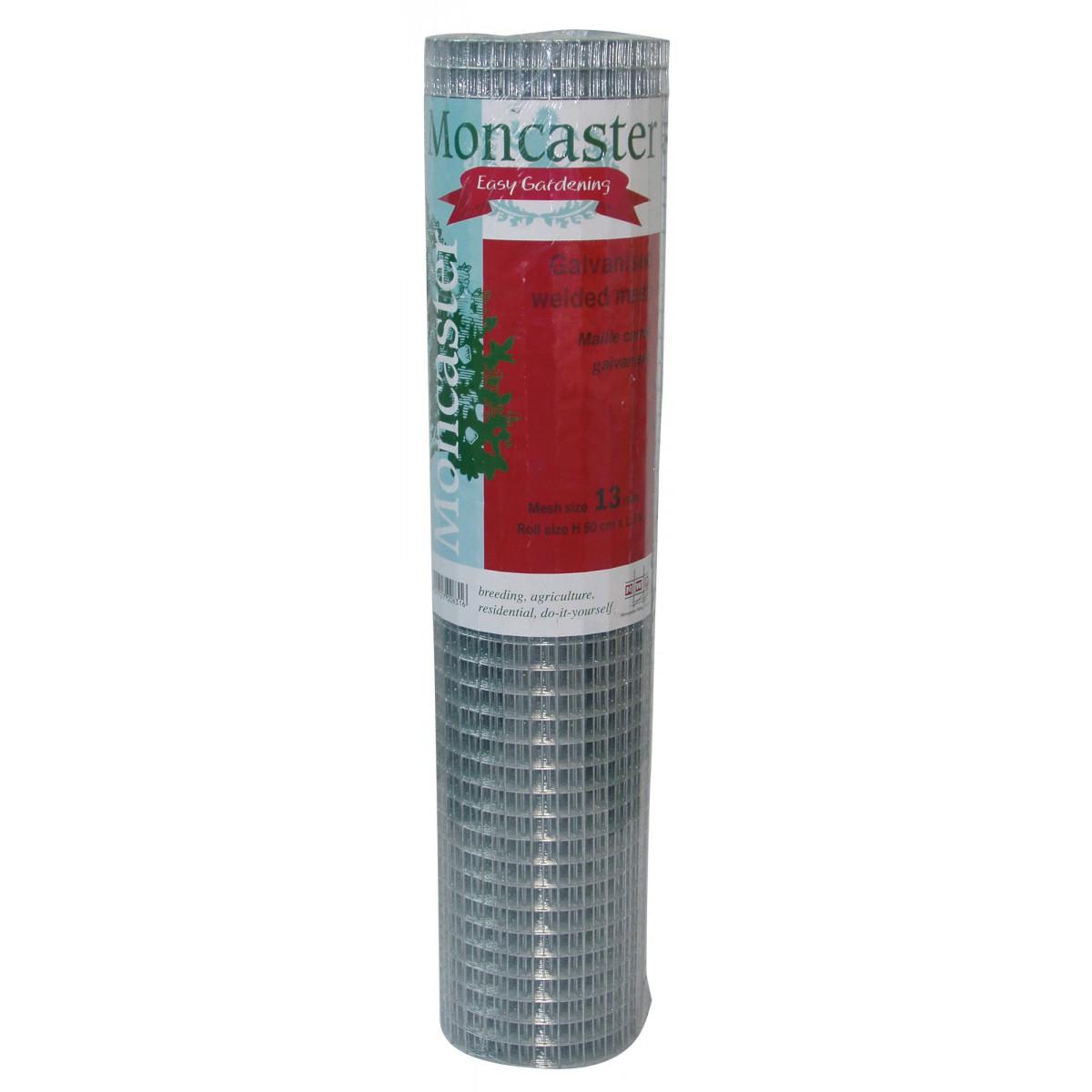 Grillage maille carrée galvanisé Cavatorta - Longueur 2,5 m - Hauteur 0,5 m - Maille 25 mm