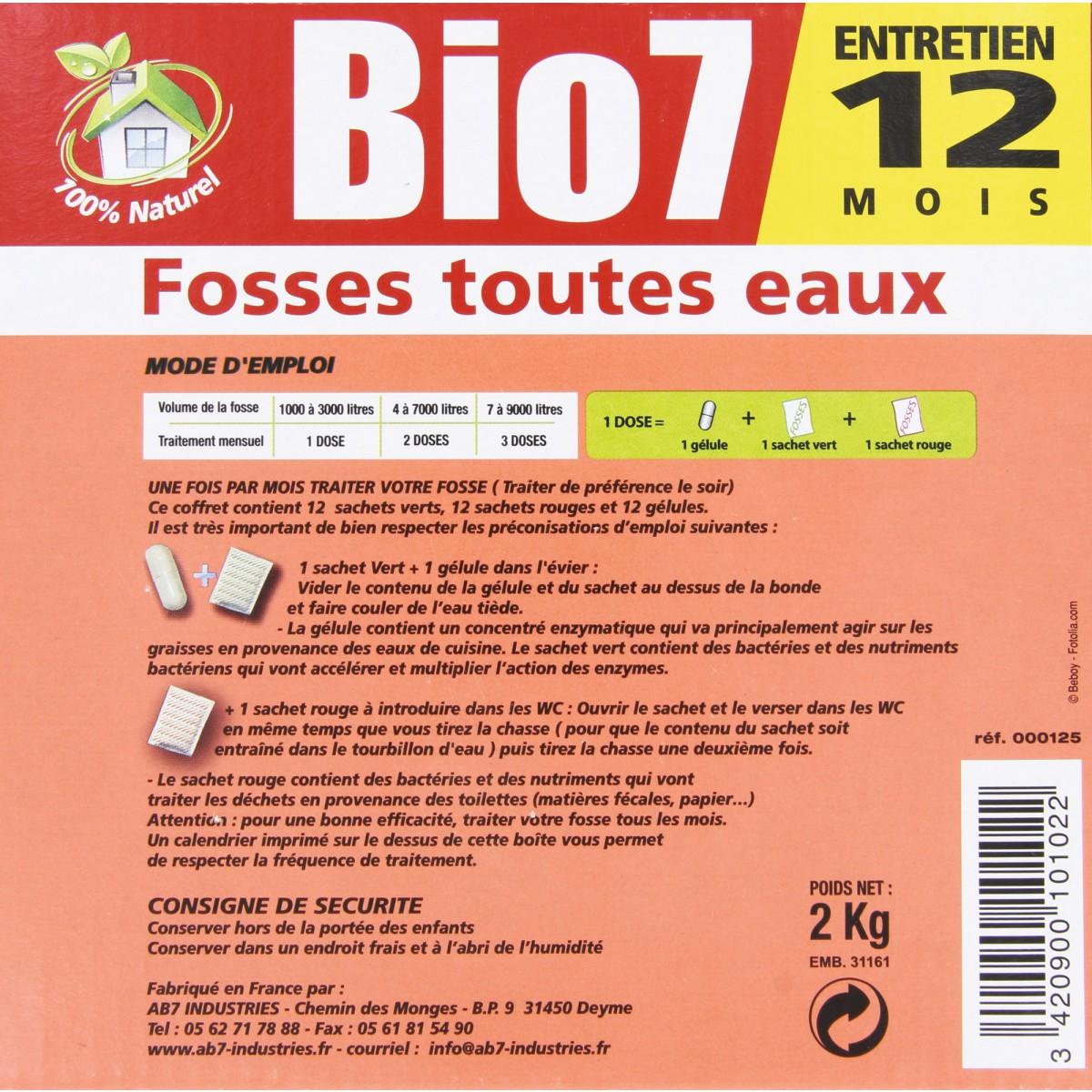 Bio 7 fosses toutes eaux ecog ne 12 doses de entretien fosse septique - Entretien fosse septique ...