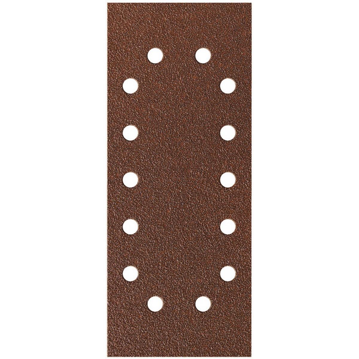 Patin fixation avec pince SCID - 14 trous - Grain 120 - Dimensions 115 x 280 mm - Vendu par 8