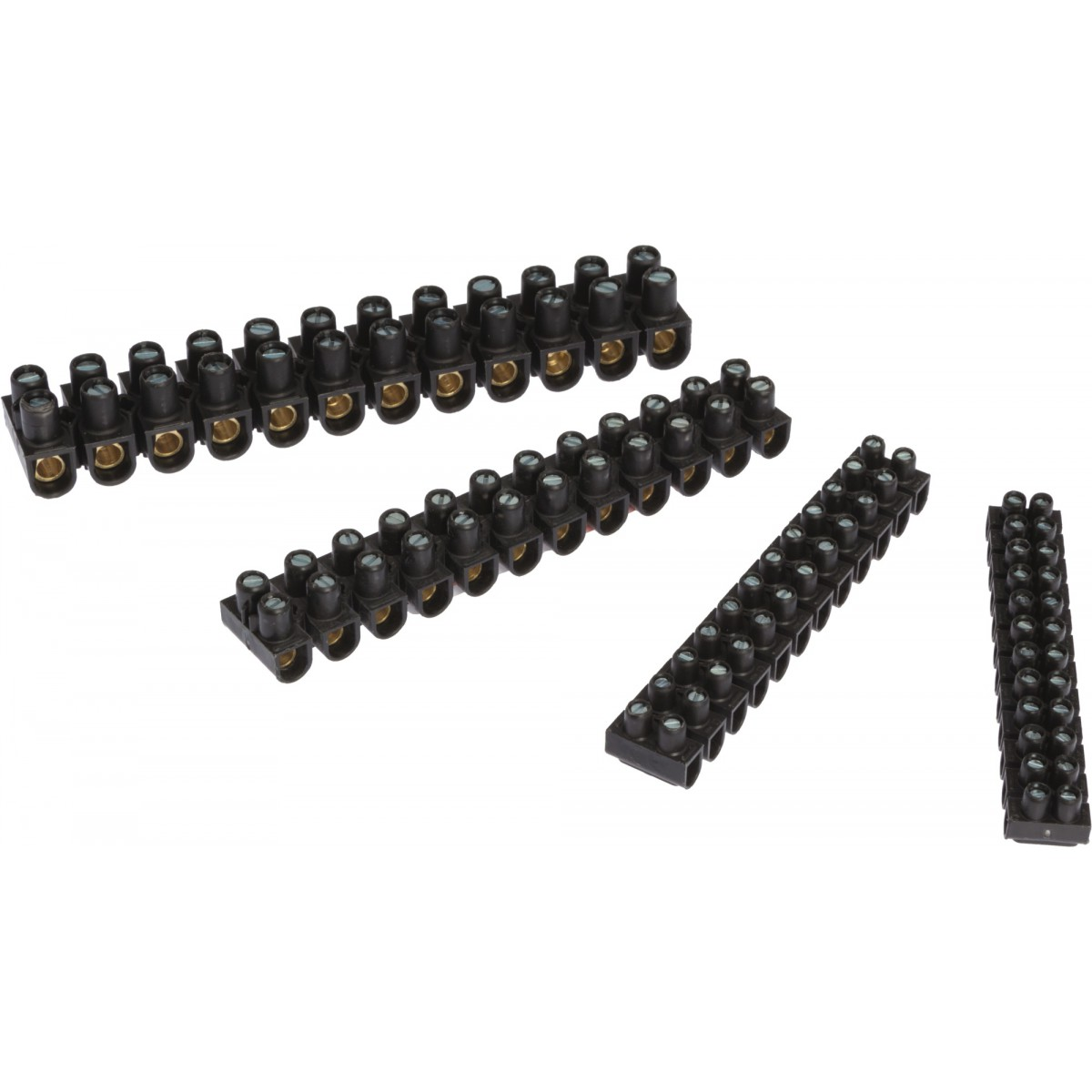 Barette 2 x 12 Nylbloc noire Legrand - Section 16 mm²