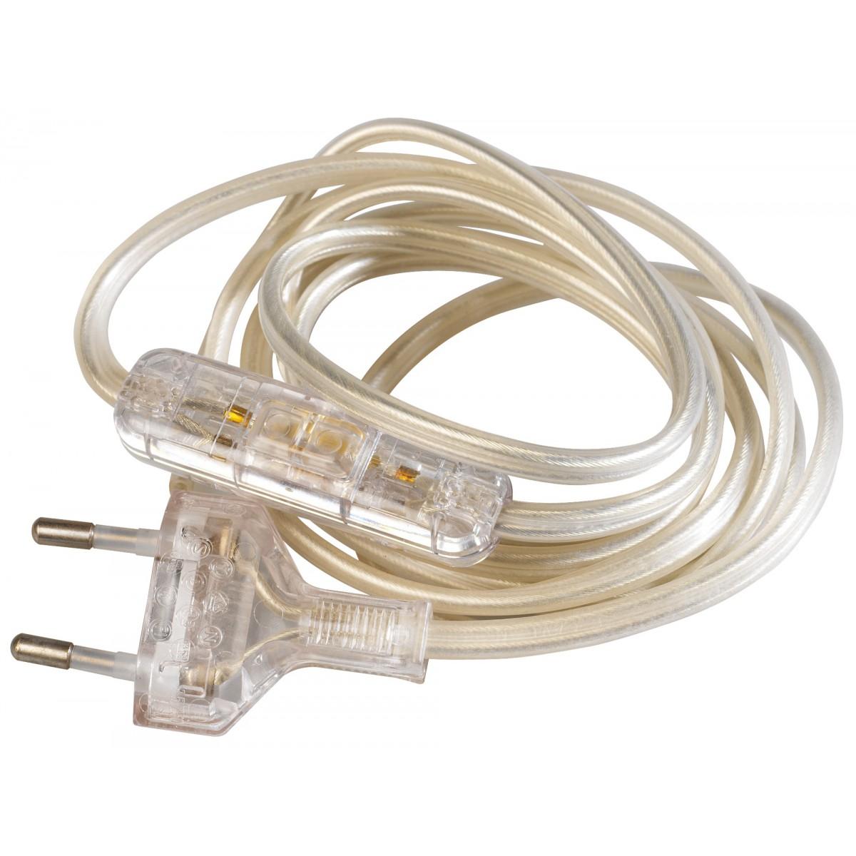 Cordon électrique pré-équipé Girard Sudron - Transparent