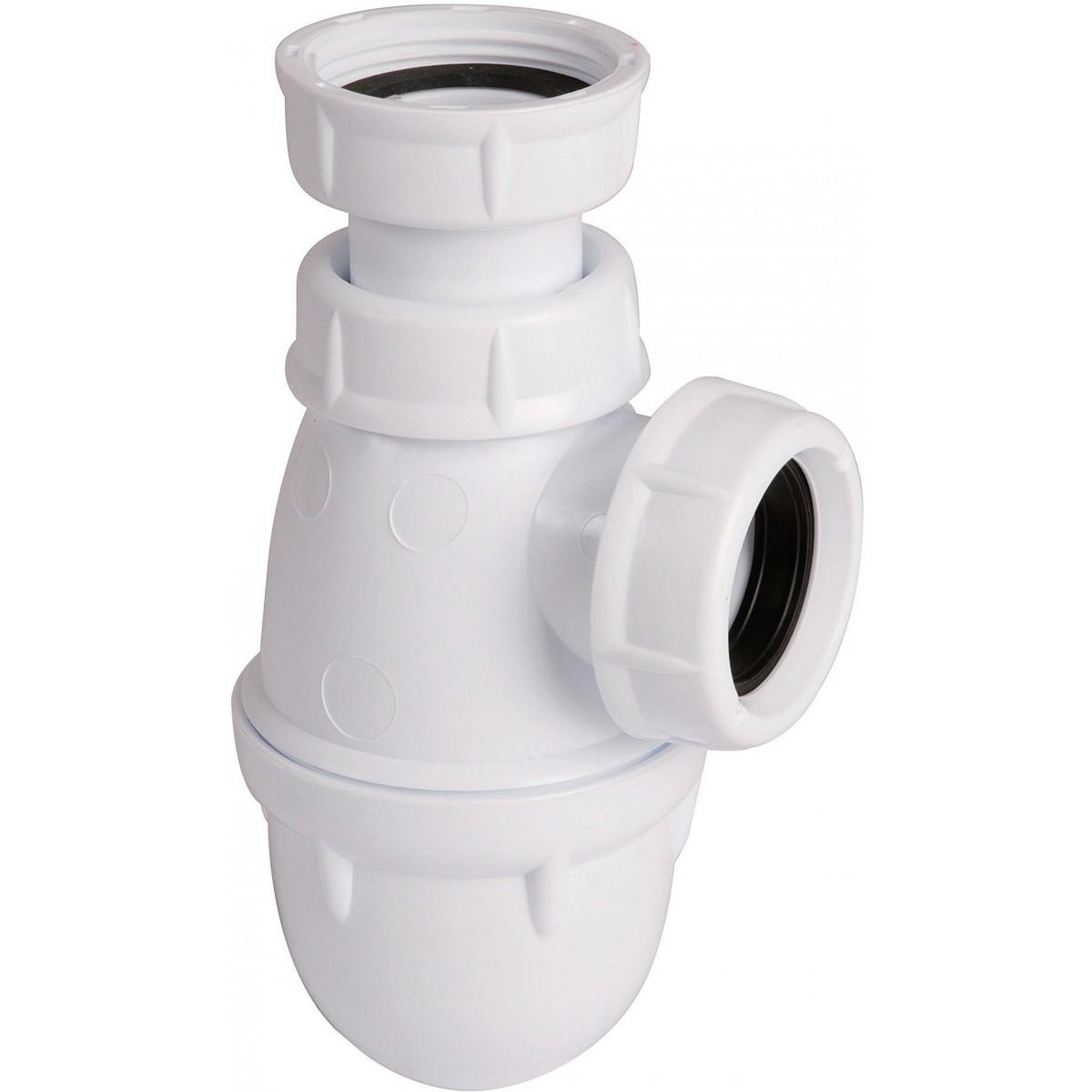 Siphon lavabo réglable 1''1/4 laiton Valentin - Diamètre 40 mm