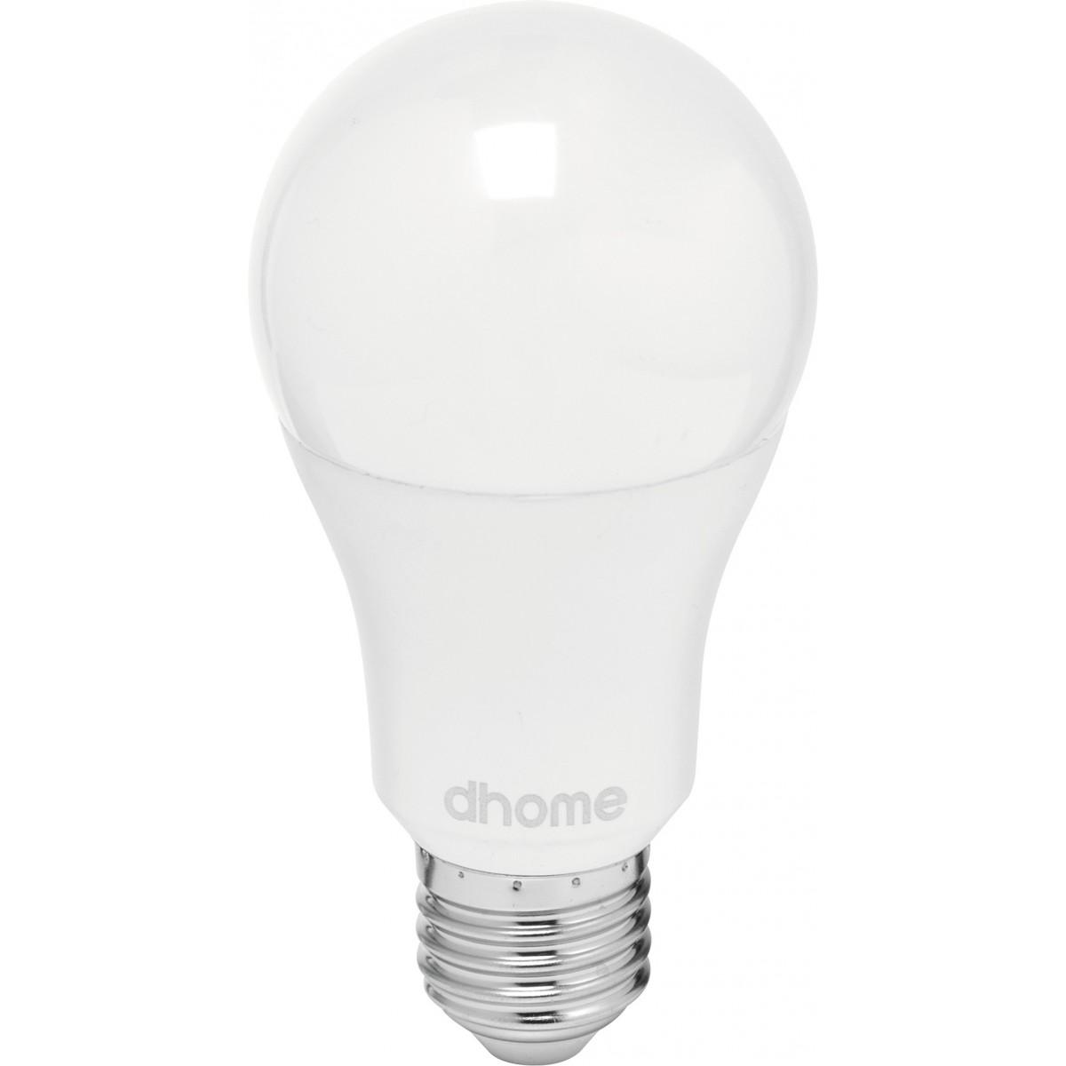 Ampoule LED standard E27 dhome - 1055 Lumens - 11 W - 2700 K - Vendu par 2