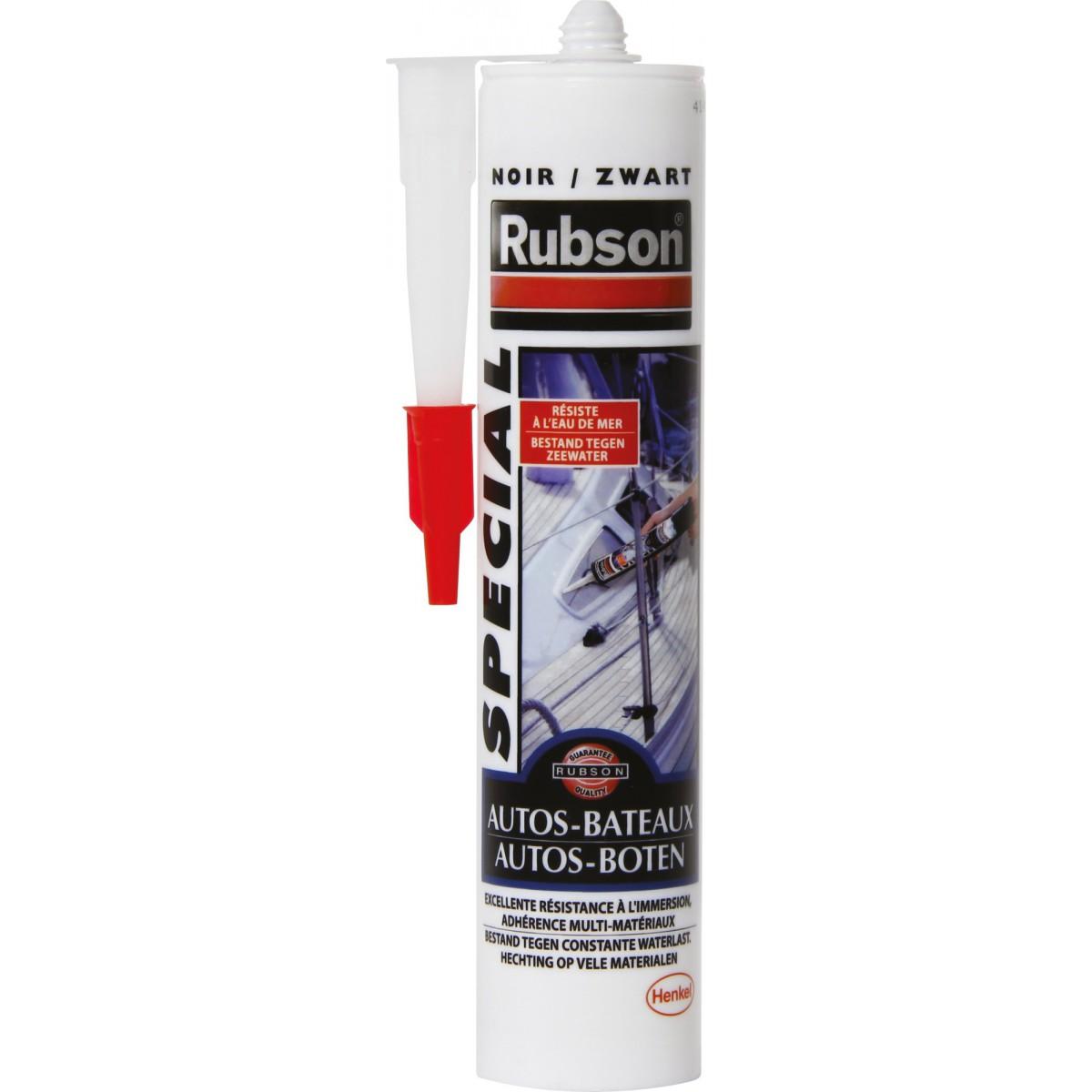 Mastic auto / marine Rubson - Cartouche 280 ml - Noir