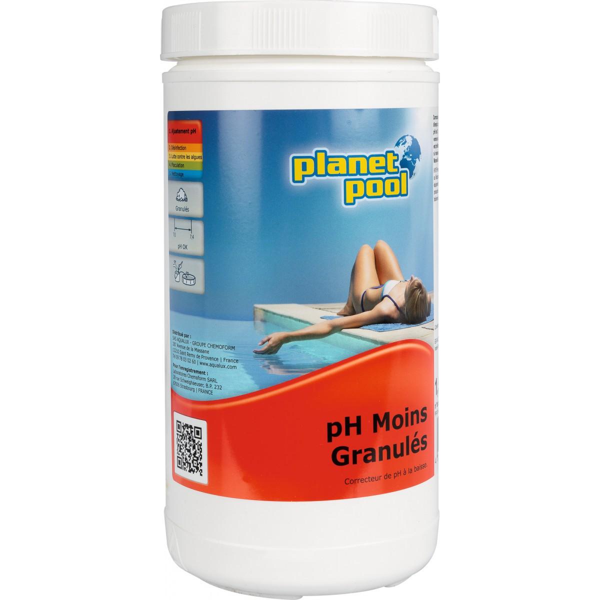 Correcteur pH moins Planet Pool - Poids 1 kg