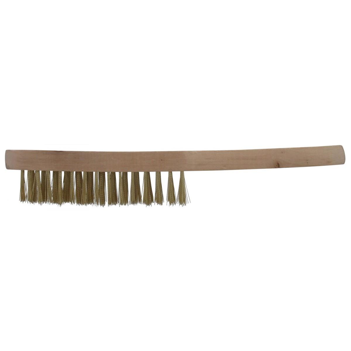 Brosse à manche acier laitonné SCID - Longueur 24 mm