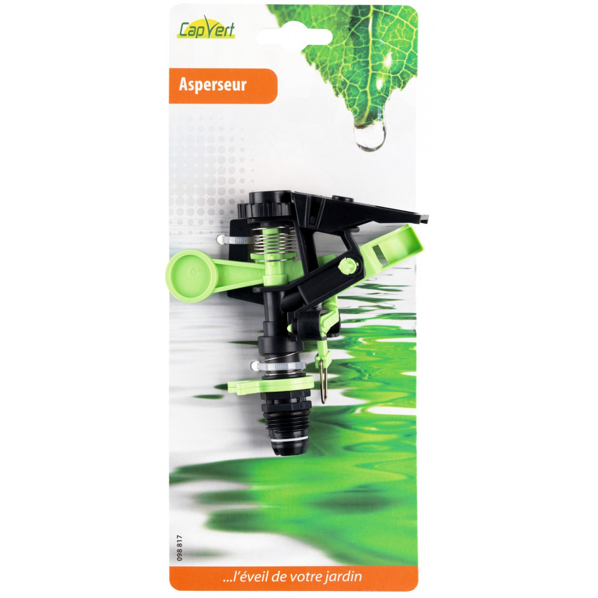Asperseur plastique Cap Vert - Filetage Mâle 15 x 21 mm