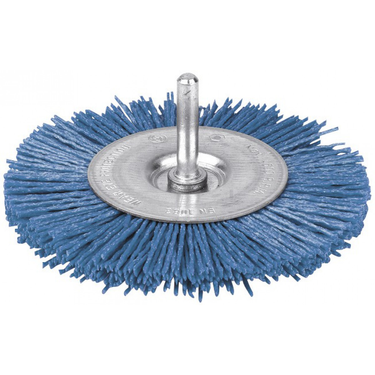 Brosse circulaire nylon bleu SCID - Diamètre 75 mm