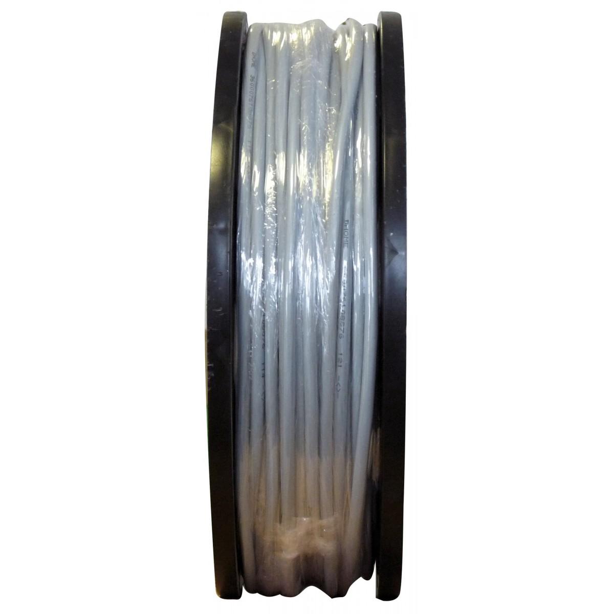 Câble H05 VV-F métré 1,5 mm² Dhome - 1/2 touret - Blanc - Longueur 150 m