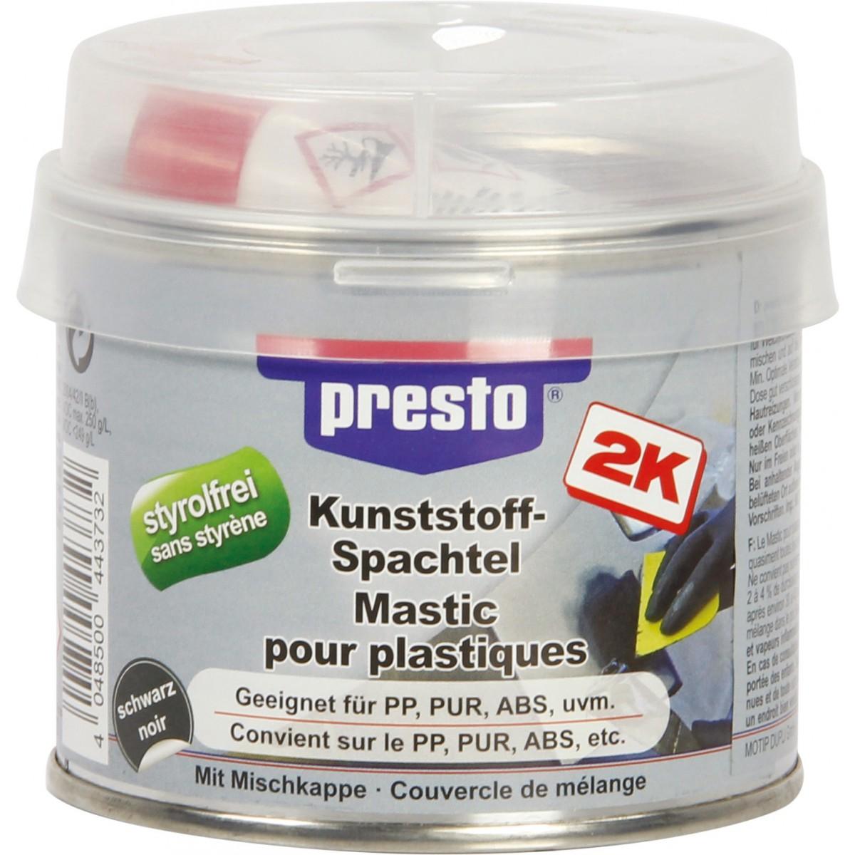 mastic pour plastique presto bi composant 250 g de mastic pour plastique. Black Bedroom Furniture Sets. Home Design Ideas