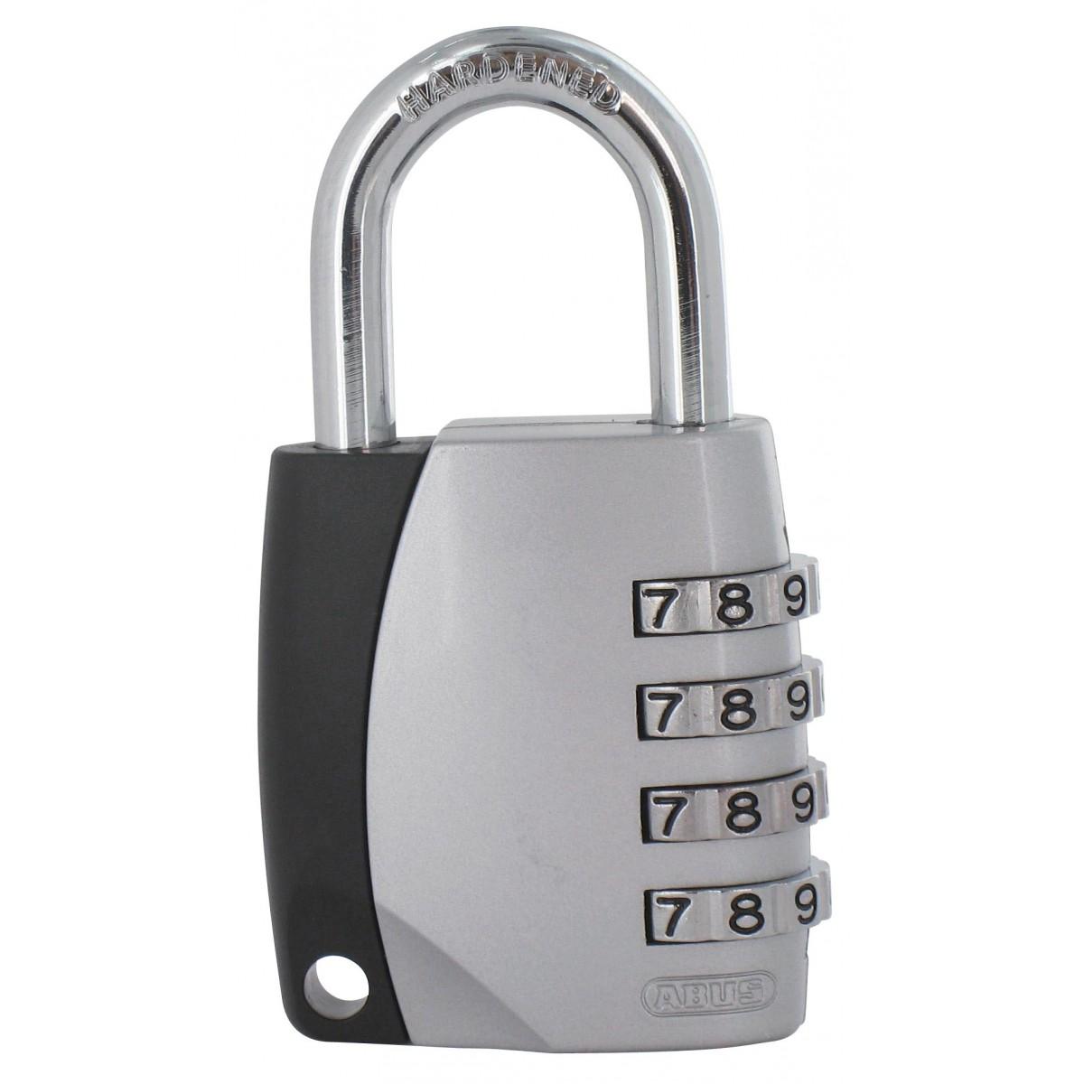Cadenas noir / aluminium à combinaison interchangeable série 155 Abus - Anse 26,5 mm - Diamètre anse 6,5 mm