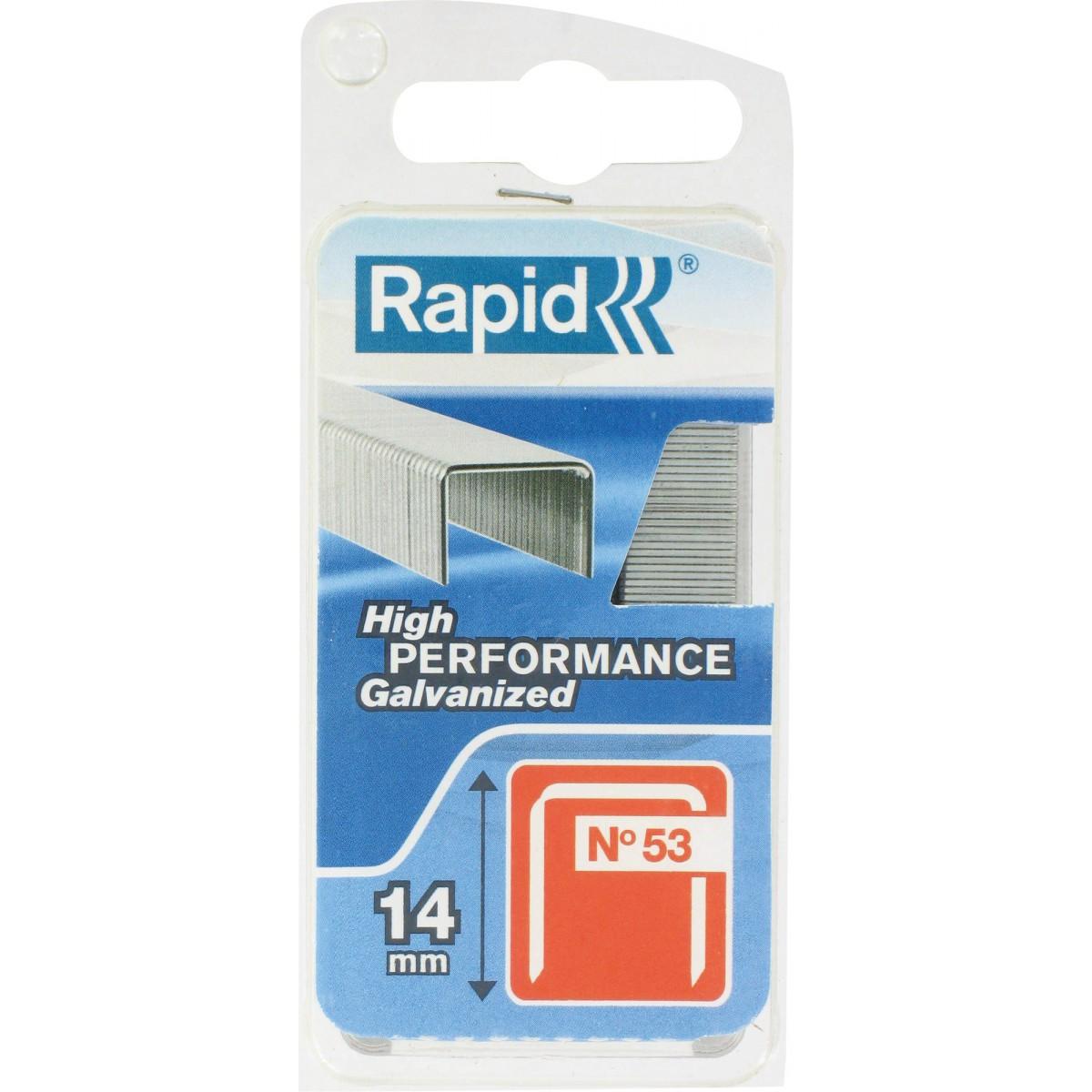 Agrafe n°53 Rapid Agraf - Hauteur 14 mm - 1080 agrafes