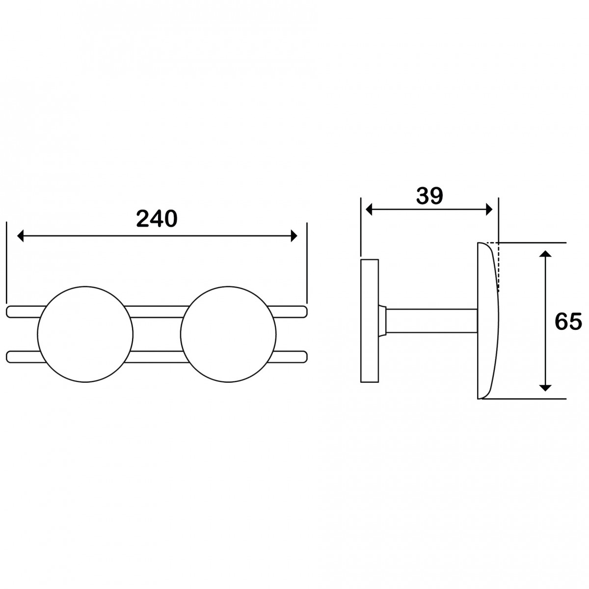 Patère 2 têtes acier - Godonnier - Standard