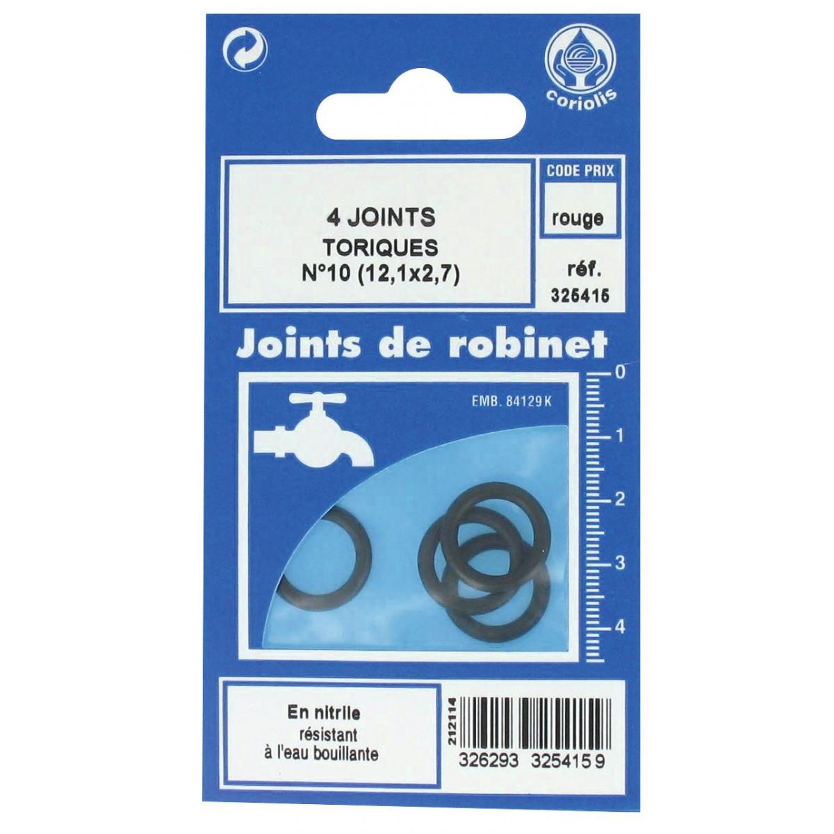 joint torique en nitrile gripp n 10 vendu par 4 de joint torique. Black Bedroom Furniture Sets. Home Design Ideas