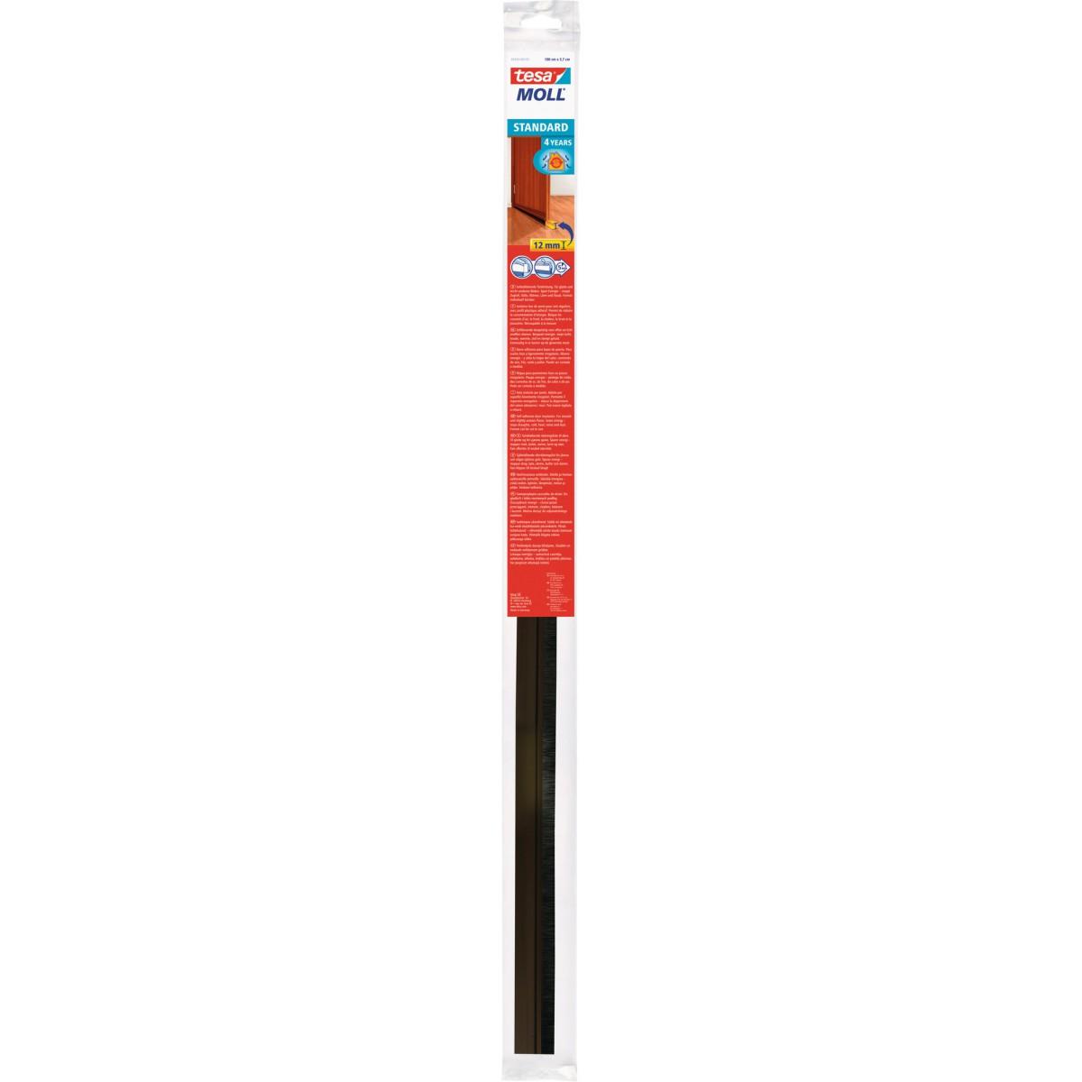 Bas de porte adhésif  spécial sols lisses Tesa - 1 m - Brun