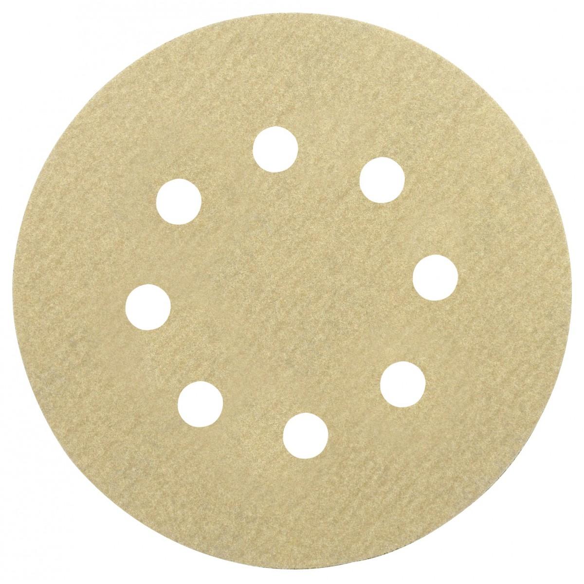 Disque abrasif auto-agrippant SCID - 8 trous - Grain 80 - Diamètre 125 mm - Vendu par 5