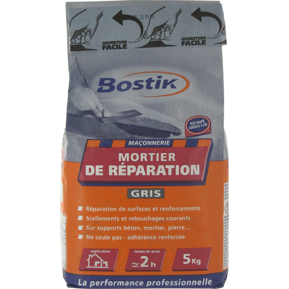 mortier de r paration bostik sac 5 kg de mortier de. Black Bedroom Furniture Sets. Home Design Ideas