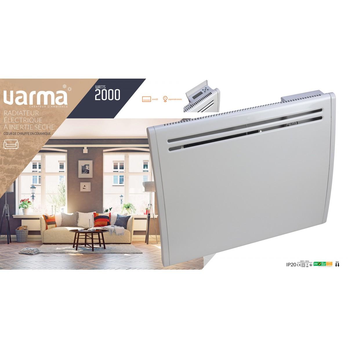 radiateur lectrique inertie s che varma 2000 w de. Black Bedroom Furniture Sets. Home Design Ideas