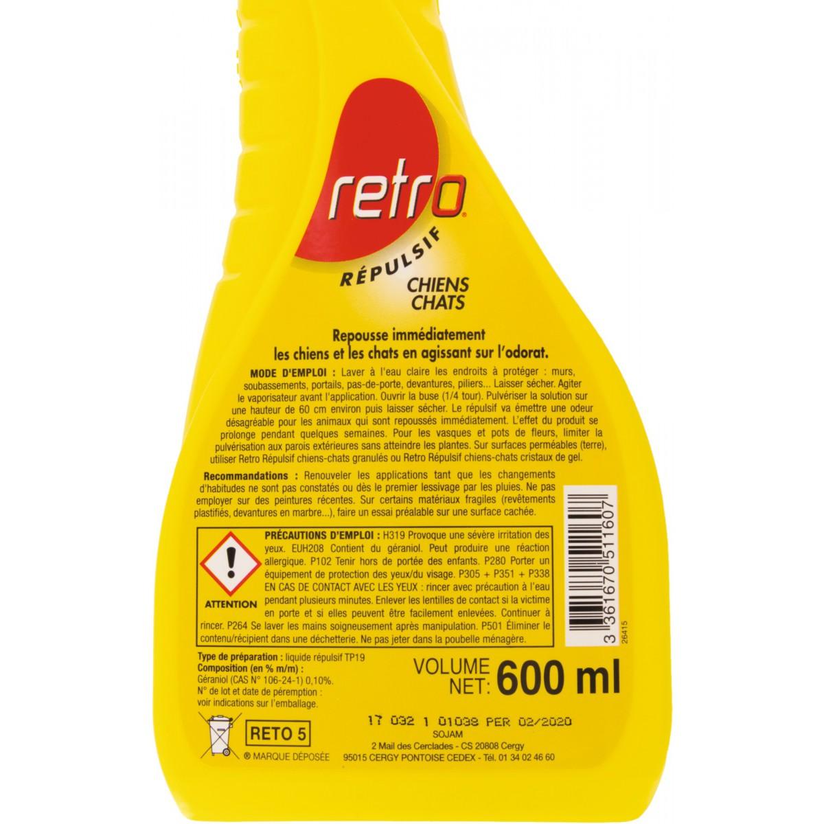 Répulsif chien-chat Retro - Pulvérisateur 500 ml