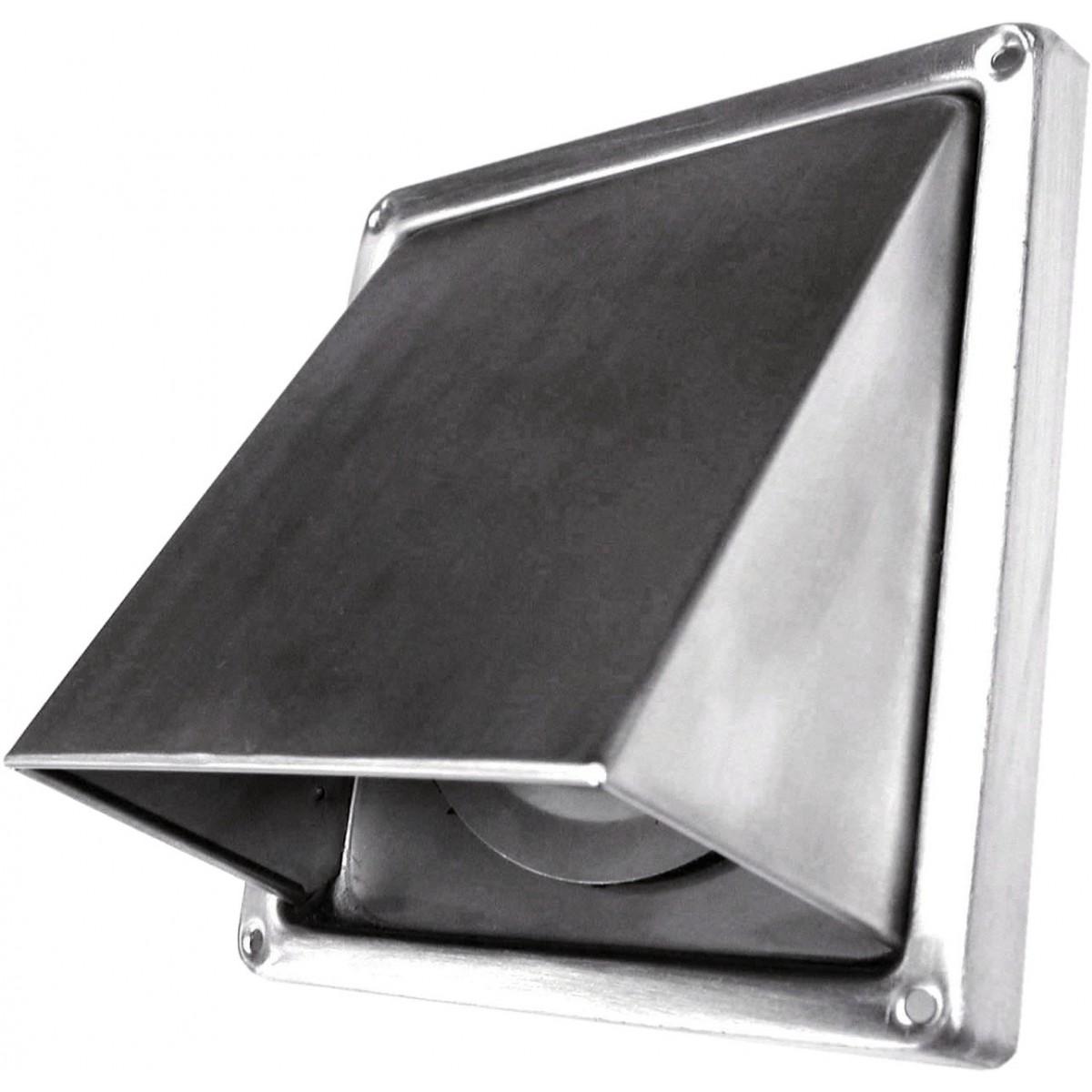 Grille inox DMO - A auvent - Diamètre 100 mm