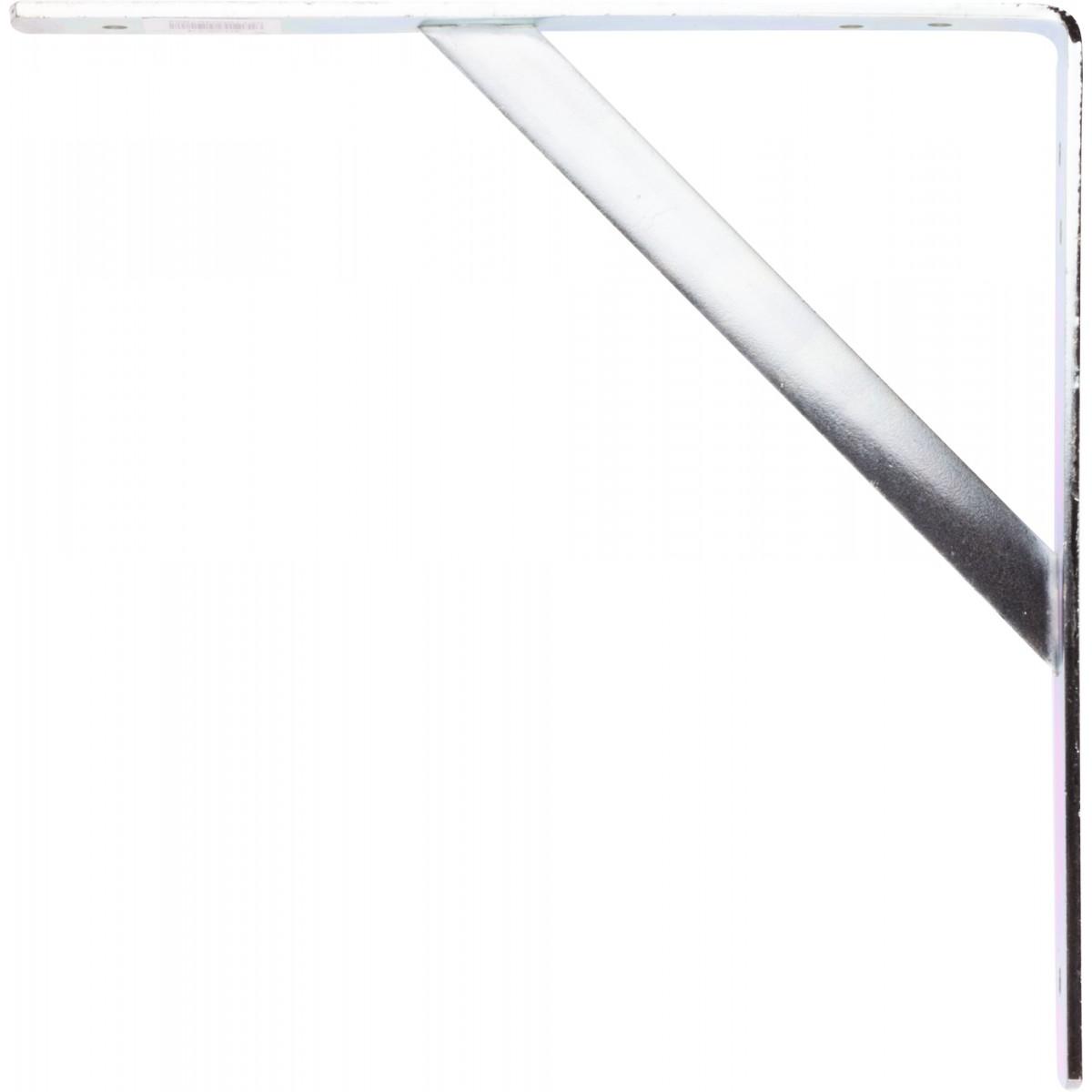 Equerre zinguée blanche renforcée Torbel - Dimensions 250 x 250 mm