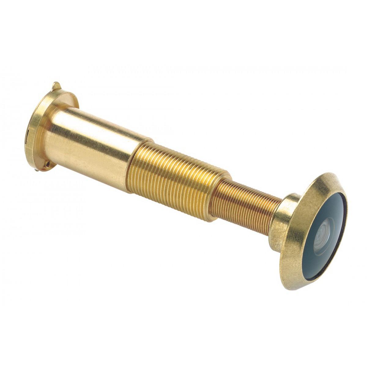 Judas optique laiton Vizer Socona - Pour porte de 37 à 62 mm - Doré