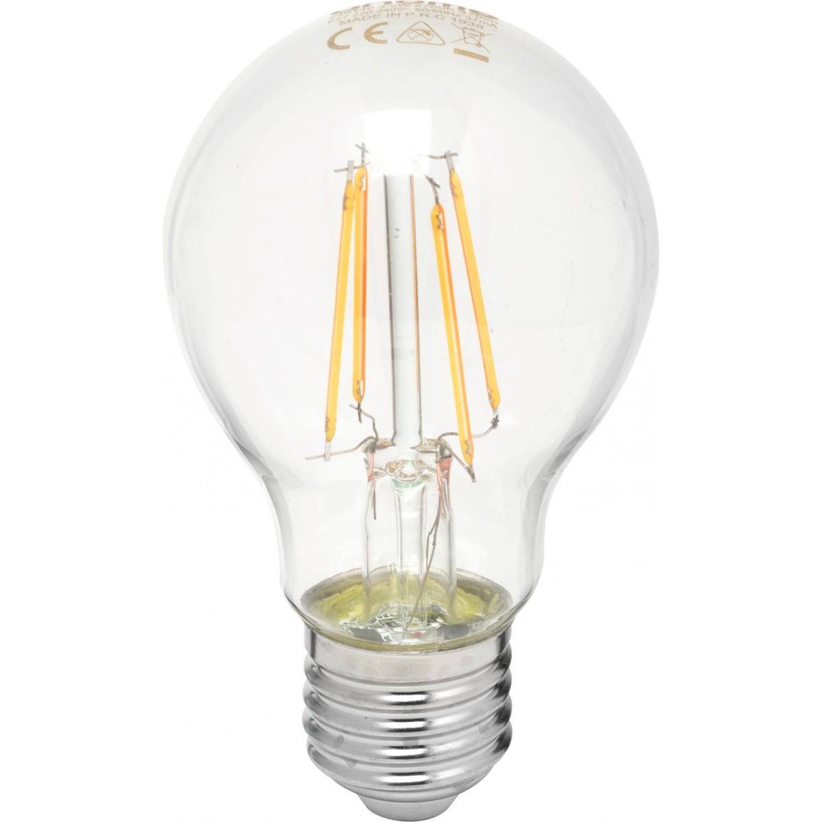 Ampoule LED standard claire à filament E27 dhome - 470 Lumens - 4,5 W - 2700 K