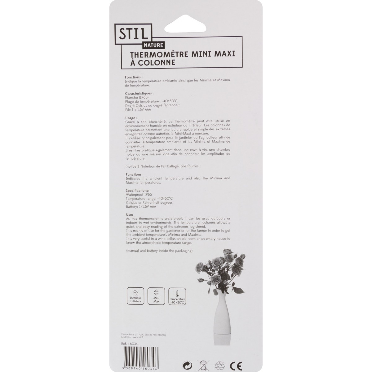 Thermomètre digital mini-maxi Stil