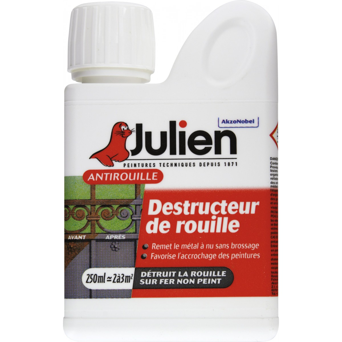 Destructeur de rouille Ot rouille Julien - Bidon 250 ml