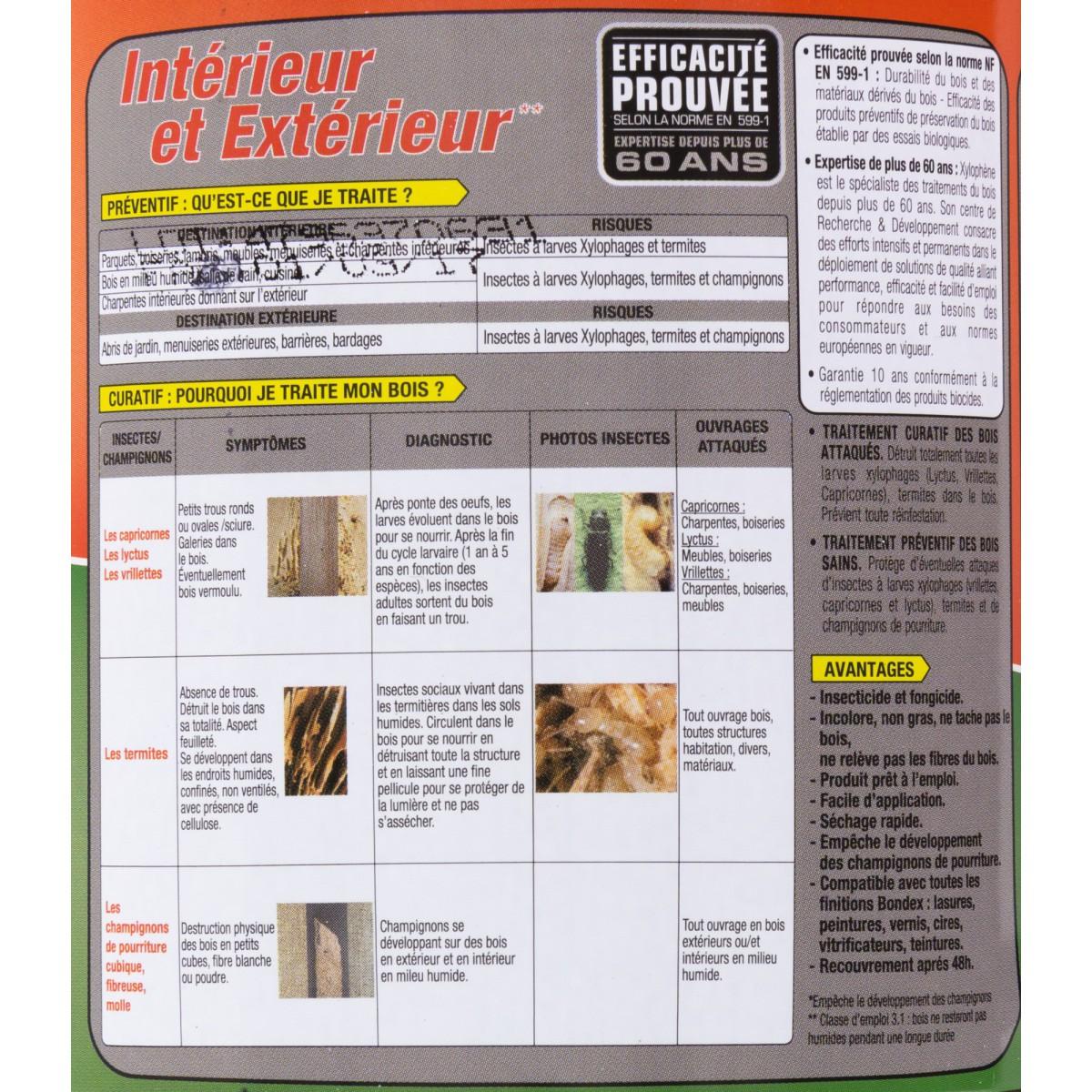 Xylophène multi-usages aqueux - Bidon 1 l