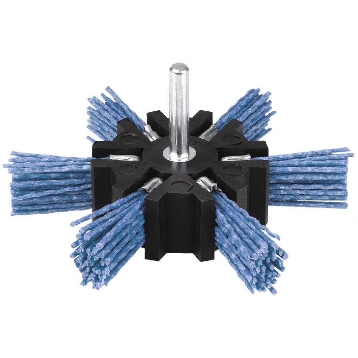 Brosse éventail nylon bleu SCID - Diamètre 100 mm