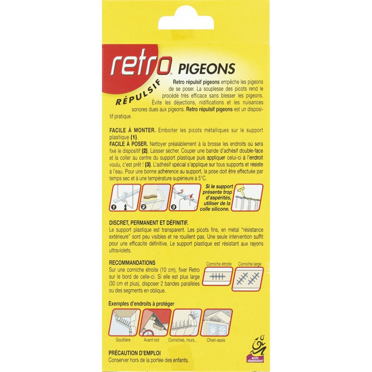 Pigeons Retro - Etui de 6 bandes 15 cm