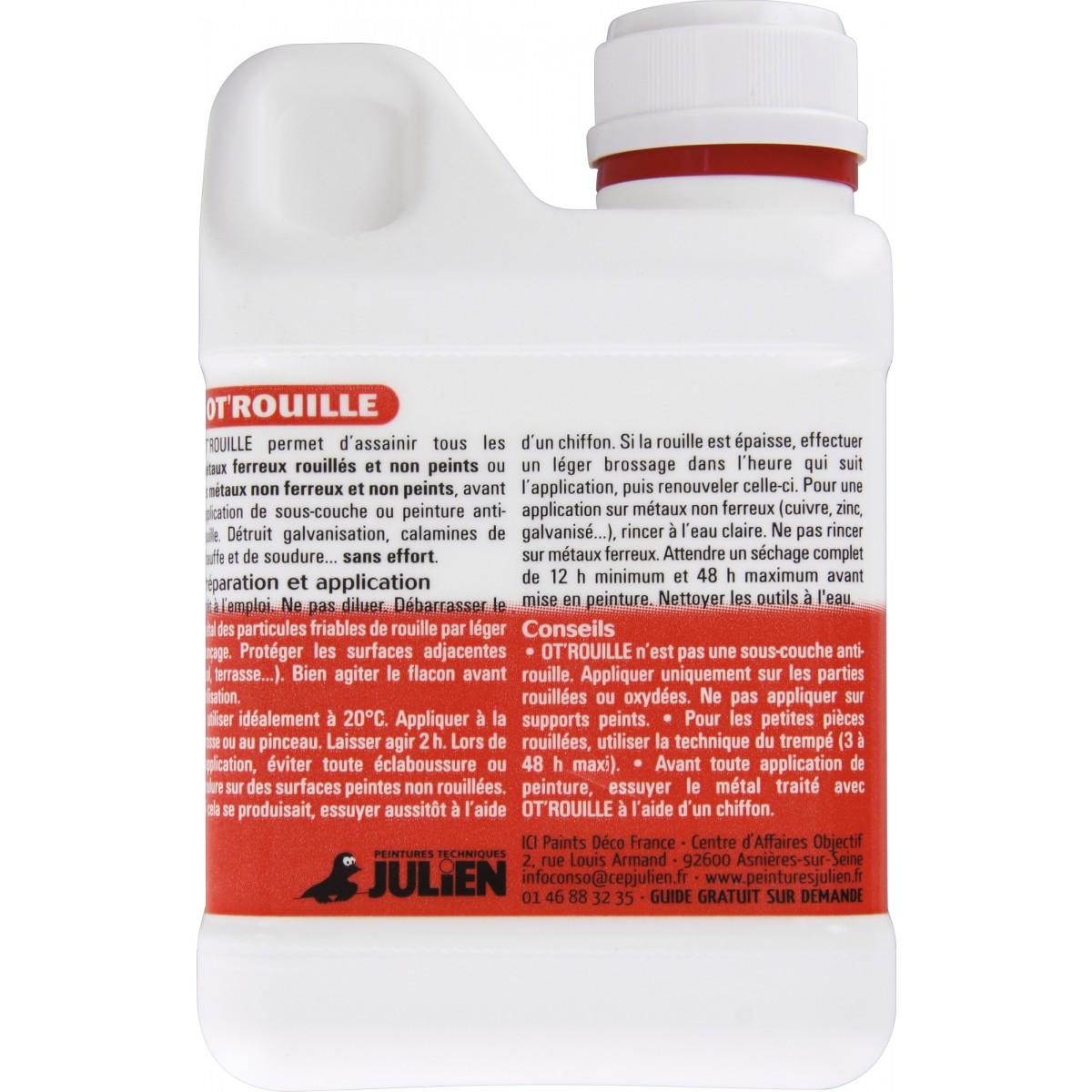 Destructeur de rouille Ot rouille Julien - Bidon 500 ml