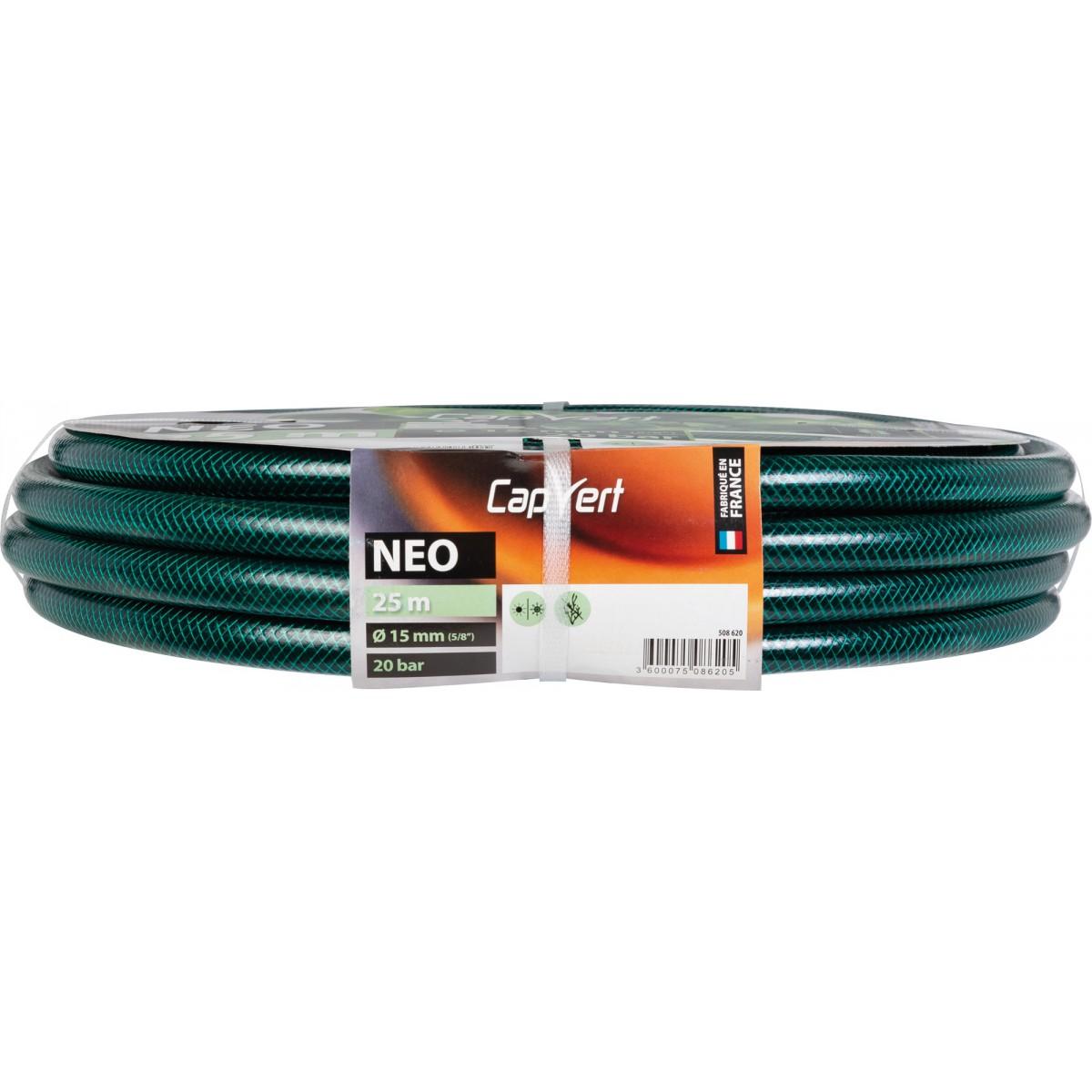 Tuyau d'arrosage Néo Reflex Cap Vert - Diamètre 15 mm- Longueur 25 m
