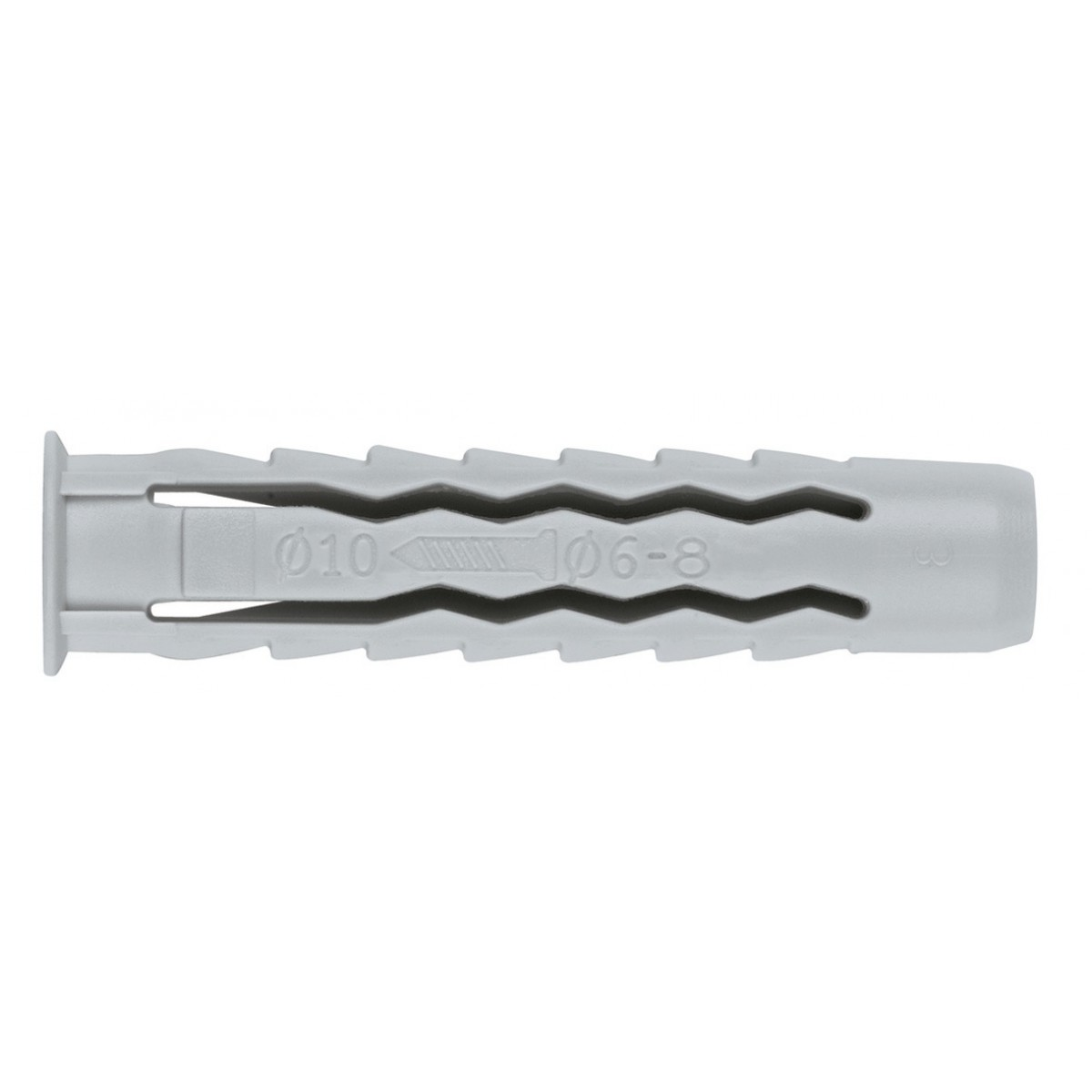 Cheville nylon quadruple expansion Fix'Pro - Longueur 50 mm - Diamètre 10 mm - Vendu par 10