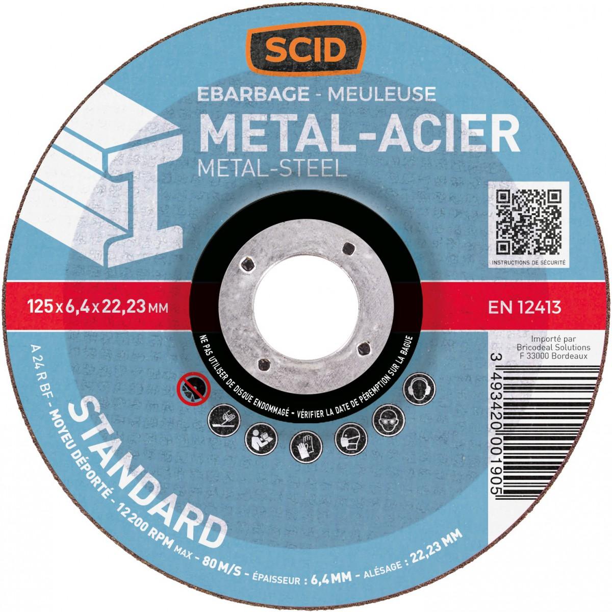 Disque à ébarber SCID - Métaux - Diamètre 125 mm