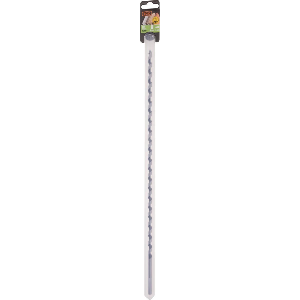 Mèche à bois spirale SCID - Longueur 460 mm - Diamètre 8 mm