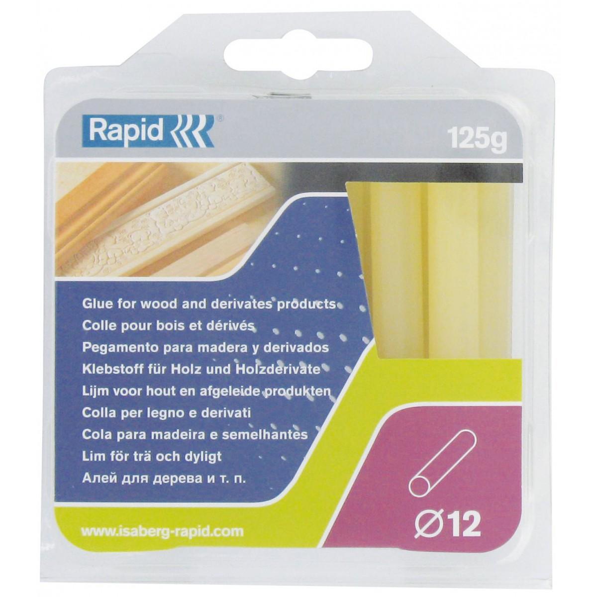 Colle spécifique diamètre 12 mm Rapid Agraf - Pour bois et dérivés - 125 g
