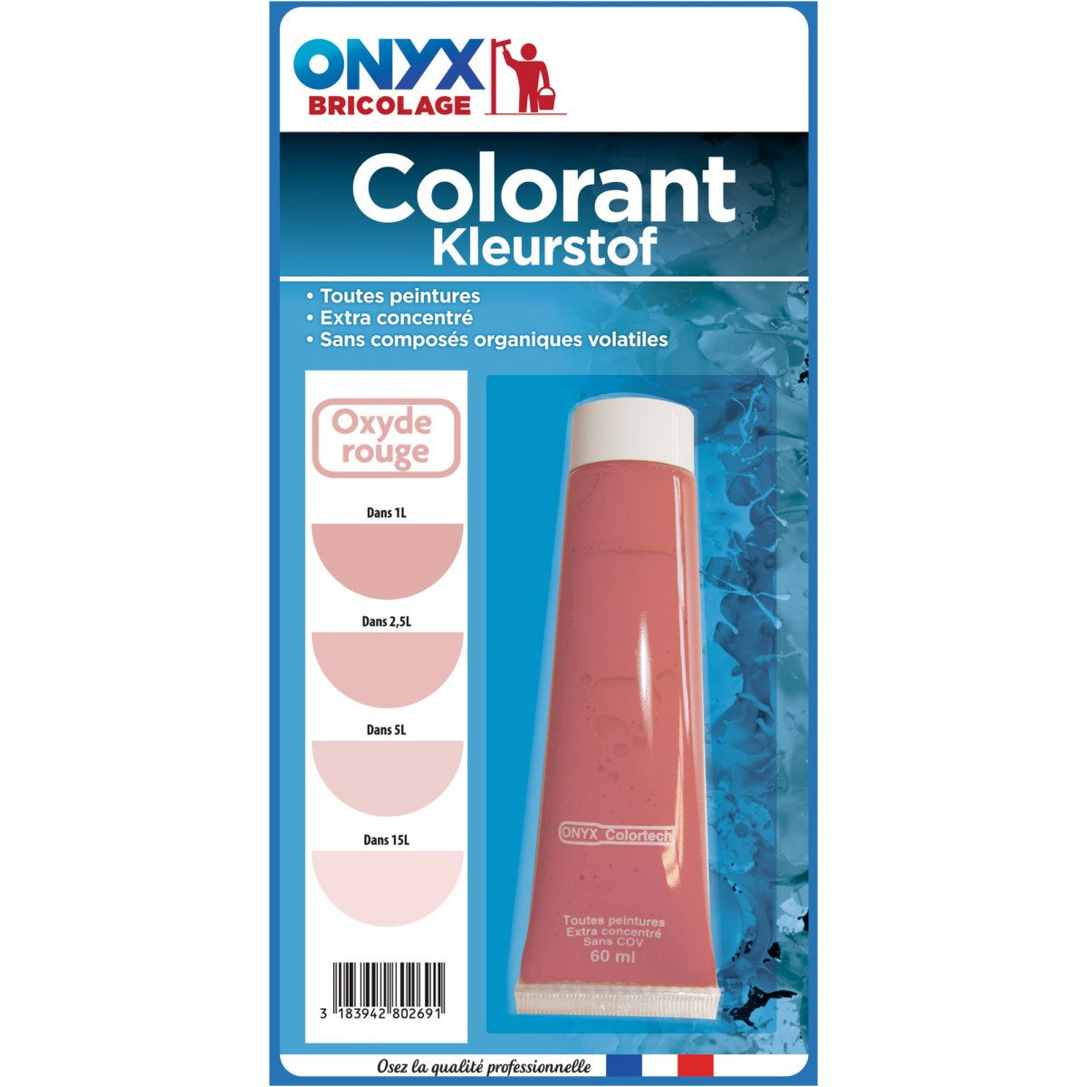 Colorant universel 60 ml Onyx - Oxyde rouge