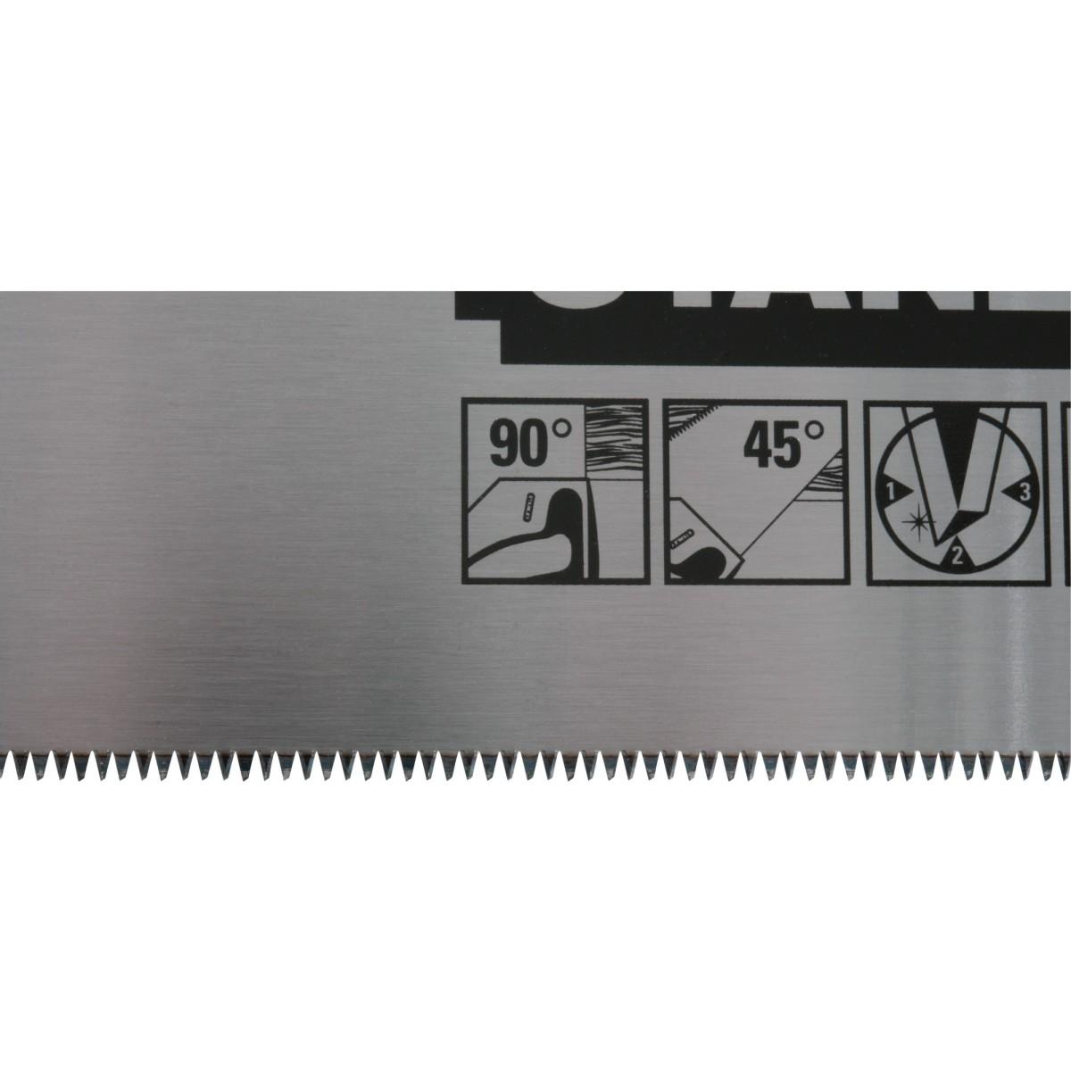 Scie égoïne jet cut Stanley Jetcut - 11 dents/pouce - Fine - Longueur 400 mm